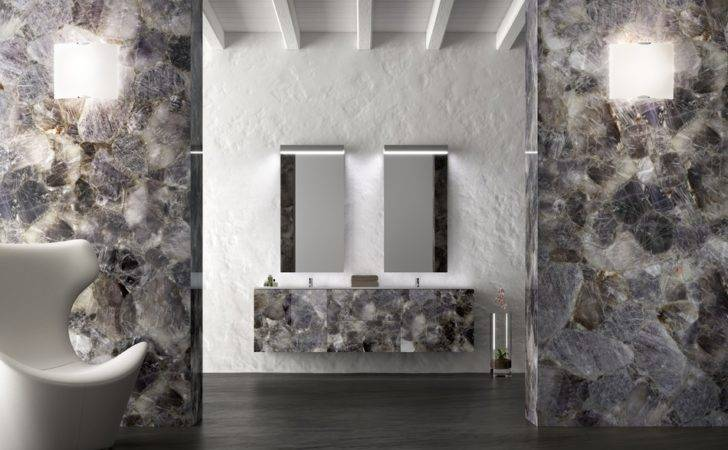 Natural Stone Interiors Rare Gems Surprisingly Employed Home