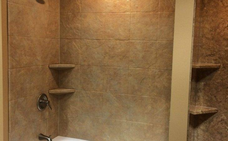 Natural Stone Tile Shower Bathroom Showers Wall