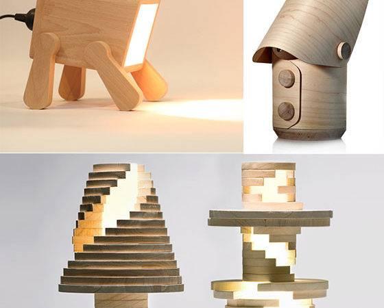 Nature Creative Cool Wooden Lamp Designs Design Swan