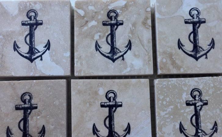 Nautical Tile Backsplash Anchor Tiles Upyonderdesigns