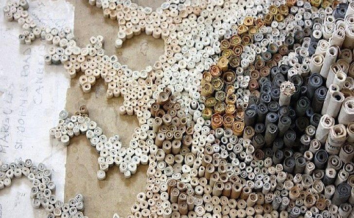 Nava Lubelski Turns Depressing Tax Returns Into Cool Rolled Art