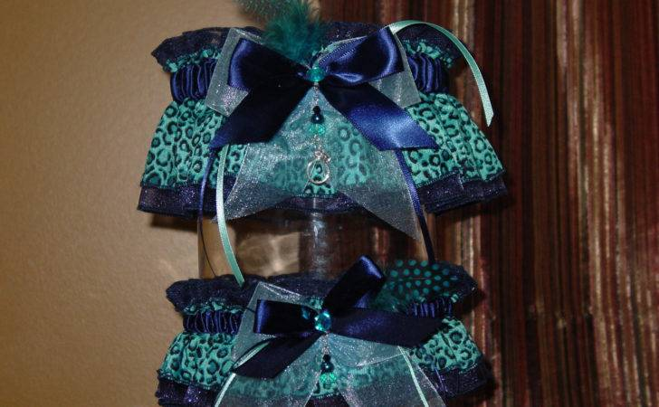 Navy Blue Teal Leopard Print Wedding Gramminstreasures