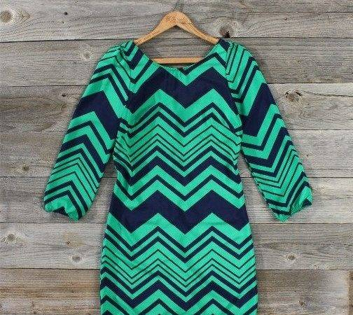 Navy Teal Chevron Dress Style Pinterest