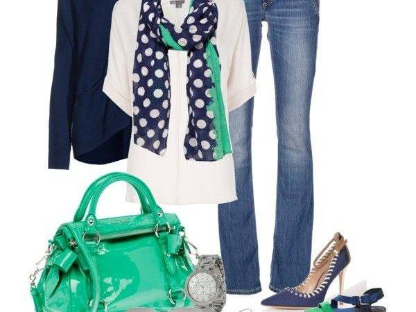 Navy Teal Polyvore Fabulous Fashions Pinterest