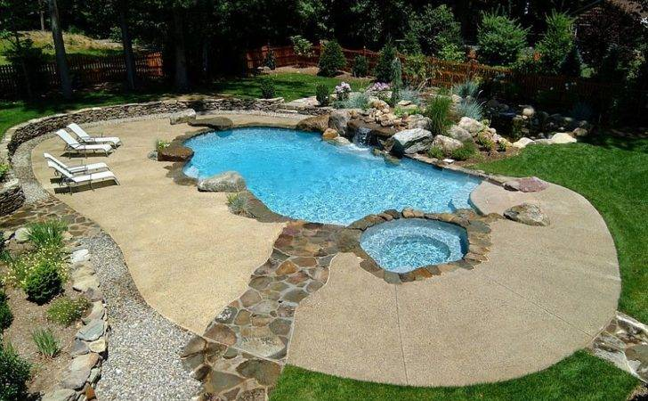 Neat Concrete Pool Deck Stone Walkway Design Cool