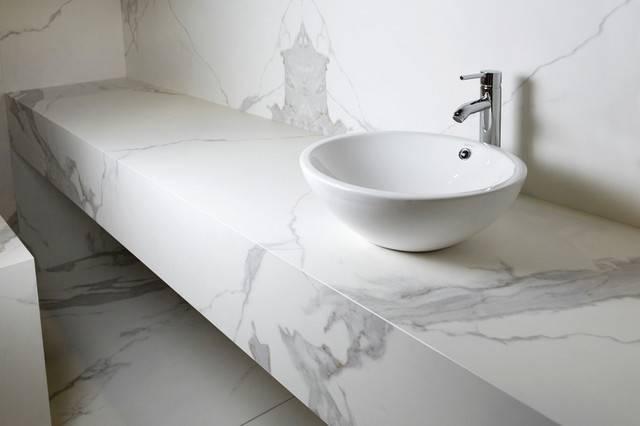 Neolith Porcelain Slab Tile Contemporary Bathroom New York