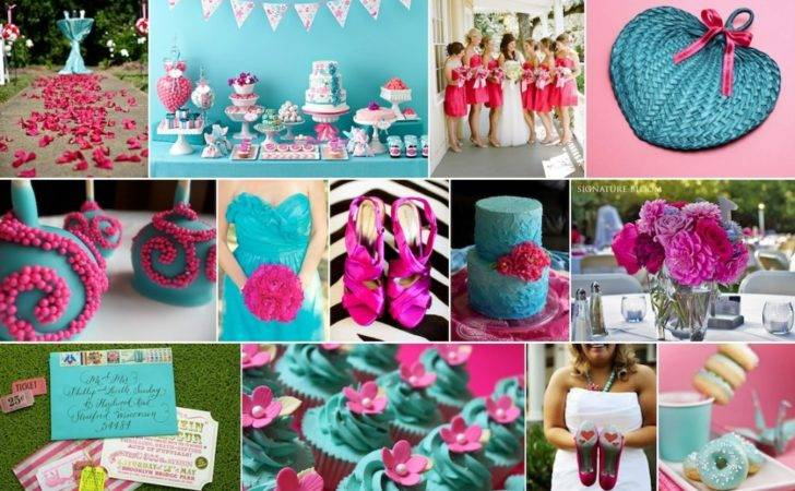 Neon Pink Turquoise Inspiration Board