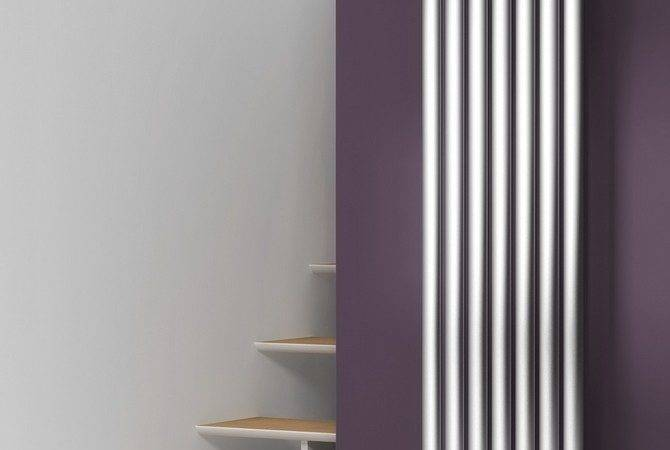 Nerox Single Vertical Stainless Steel Designer Radiator Reina