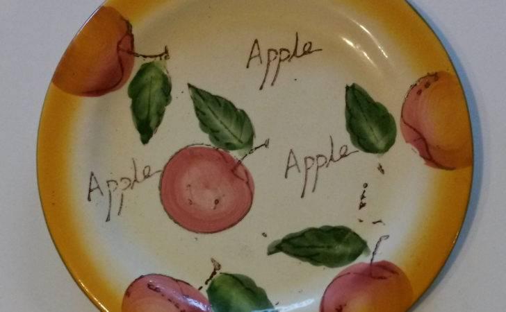 New Apple Theme Decorative Plate Kitchen Decor Ceramic Fruit Wall