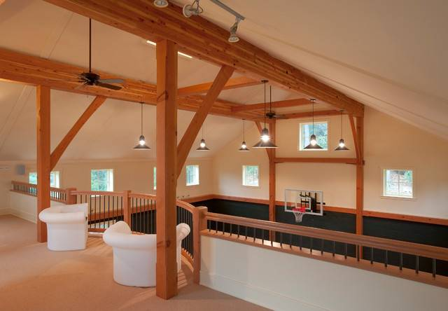 New Barn Recreational Building Construction Traditional Home Gym