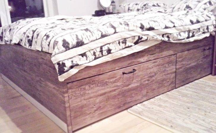 New Hacked Ikea Bed Brimnes Wood Adhesive Glavik