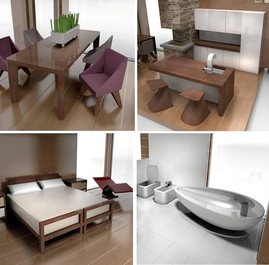New Line Scale Modern Dollhouse Furniture Brinca Dada