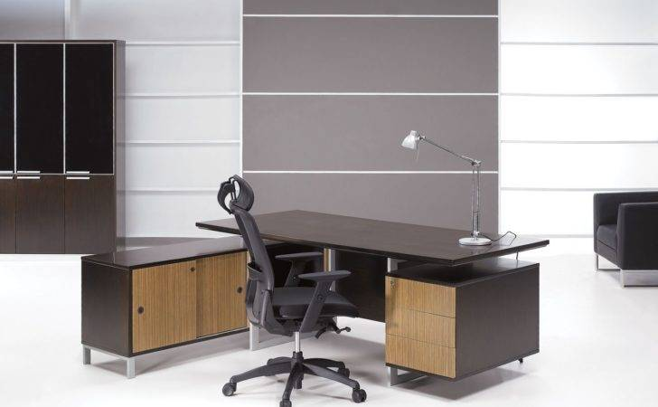 New Modern Office Desk Wonderful Design Wooden