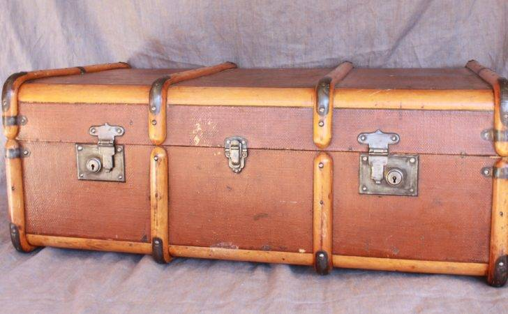 New Old Steamer Trunk Cavender Diary
