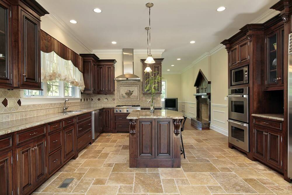 New Spacious Darker Wood Kitchen Designs Layouts