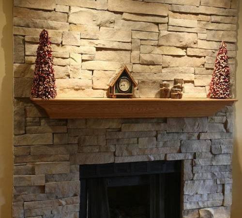 New Stone Fireplace Without Mortar Joints North Star