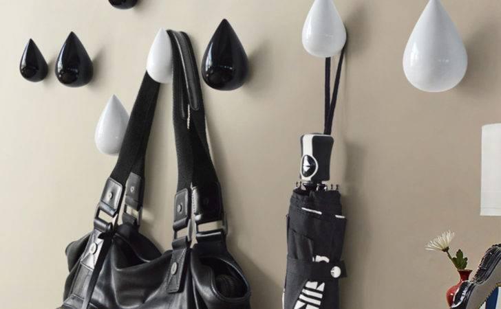New Water Drop Design Hooks Wooden Wall Hangers Home Decor Coat Hat