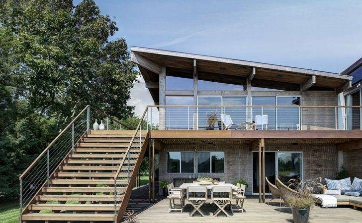 New York Home Gets Steely Extension Prefab Panels