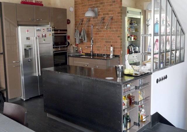 New York Industrial Kitchen Loft Interior