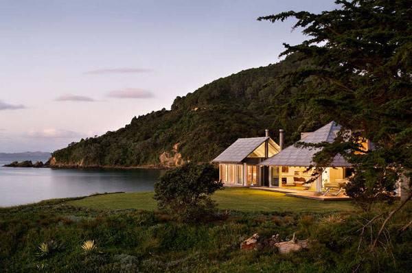 New Zealand Beach House Dusk