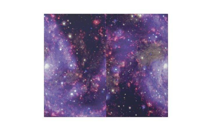 Ngc Fireworks Galaxy Wrapping Paper Zazzle