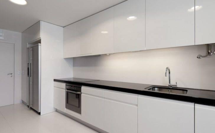 Nice Contemporary White Kitchen Modern Apartment