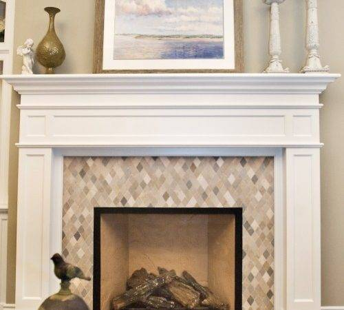 Nice Harlequin Mosaic Attractive Face Your Fireplace