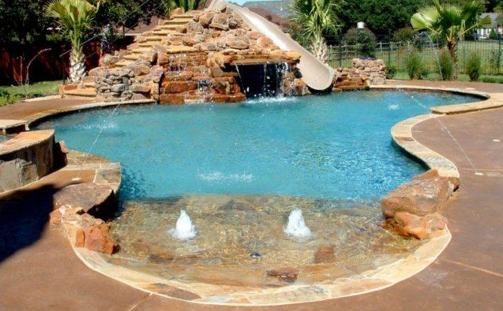 Nice Natural Rock Swimming Pool Designs Ideas