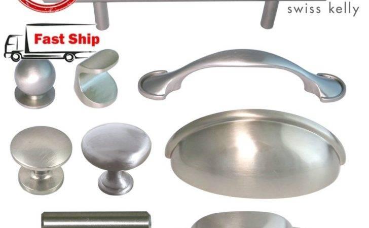 Nickel Kitchen Hardware Cabinet Drawer Handles Cup Pulls Knobs Ebay
