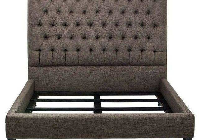Nicole Tufted Bed Frame Contemporary Frames Chairish