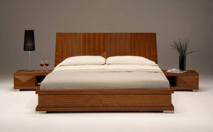 Nightstands Modern Bedroom Furniture White Concrete Flooring