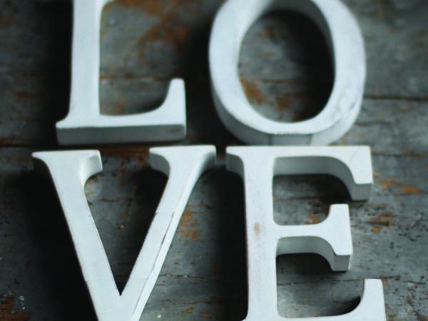 Nkuku Distressed Mango Wood Letters White