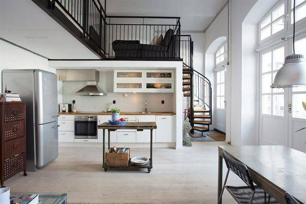 Nordic Meets Industrial Small Loft