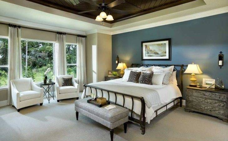 Not Only Does Greyish Blue Accent Wall Master Bedroom