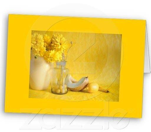 Notecard Color Therapy Yellow