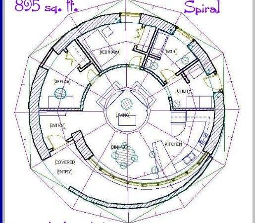 Notes Plan Spiral Two Bedrooms One Bath