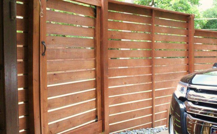 Now All Slats Lining Fence Our Gate Looks More