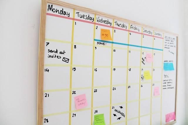 Now Pretty Diy White Board Calendar