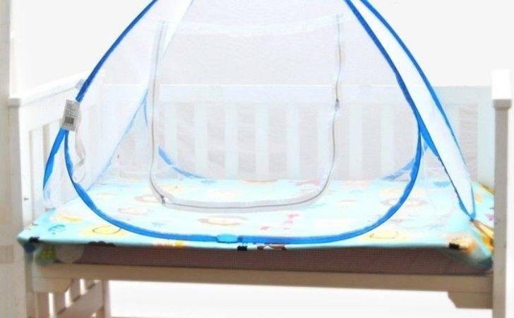Nursery Bed Crib Pop Mosquito Netting Play Tent House Hut
