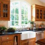 Oak Dark Cabinet Victorian Home Design Photos