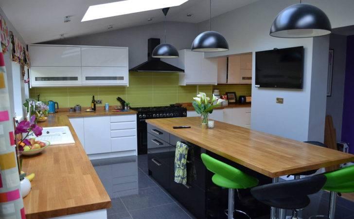 Oak Large Kitchen Endcaps Applied Island