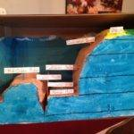 Ocean Floor Diorama Carved Extra Styrofoam Out Package