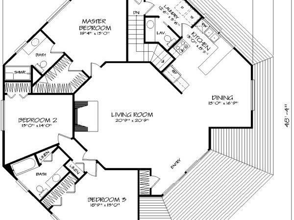 Octagon Bedrooms Baths House Designers
