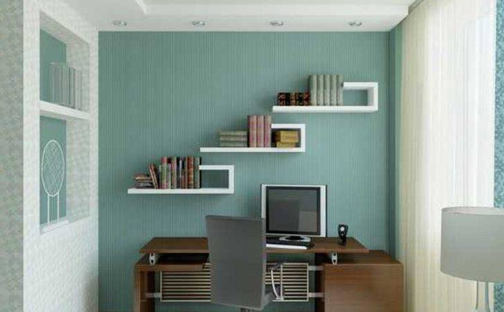 Office Commercial Executive Decorating Ideas Blue Wall