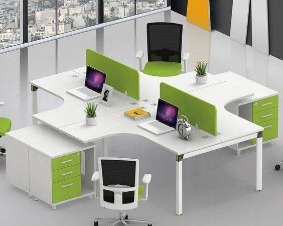 Office Cubicles Desks Space Person