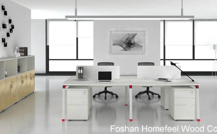 Office Layout Modern Person Cubicle Workstation