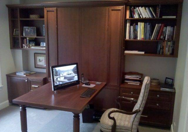 Office Murphy Bed Traditional Home