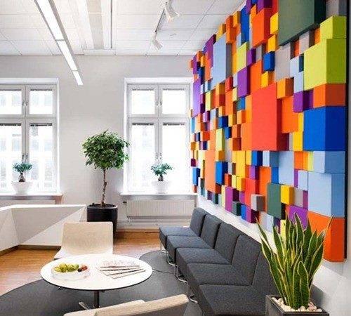 Office Reception Wall Interior Design Information Home