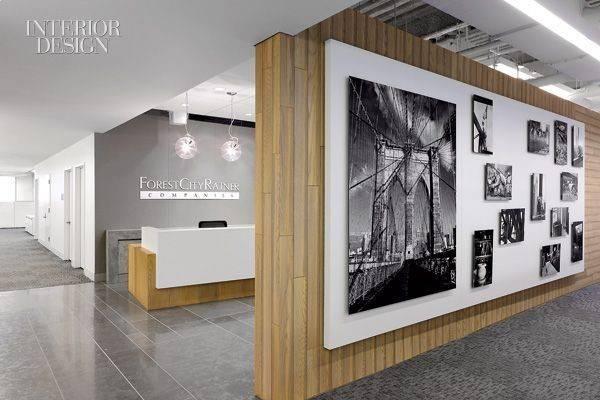 Office Reception Wall Interior Design Winning Living Room Creative