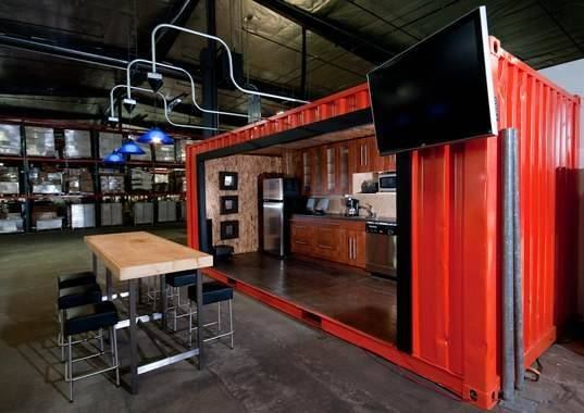 Office Space Shipping Container Reuse Recycled Materials